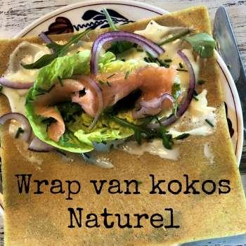Wrap van kokos naturel De EetLijn